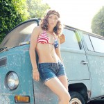 Genevieve Alexandra Wears Stars and Stripes 1