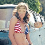 Genevieve Alexandra Wears Stars and Stripes 2