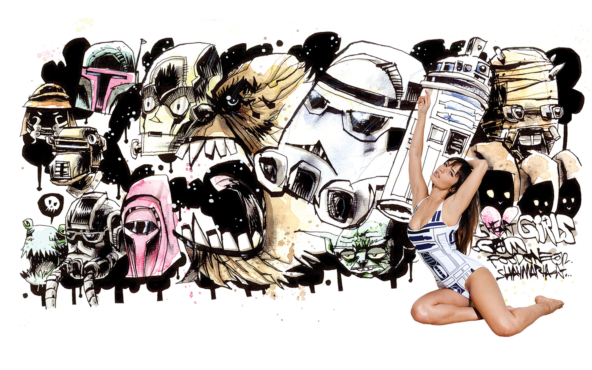 Jim Mahfood ♥s Girls: Shay Maria Wallpapers